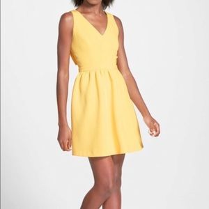 Soprano Yellow Back-Bow Dress